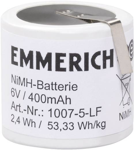Akkupack 5x Spezial-Akku Z-Lötfahne NiMH Emmerich 1007-5-LF 6 V 400 mAh