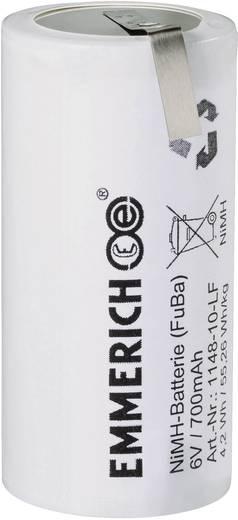 Akkupack 5x Z-Lötfahne Emmerich 1148-10-LF 6 V 700 mAh