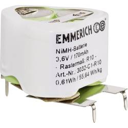 Image of Emmerich 3032-C1-R10 Akkupack 3x Spezial-Akku U-Lötpins NiMH 3.6 V 170 mAh
