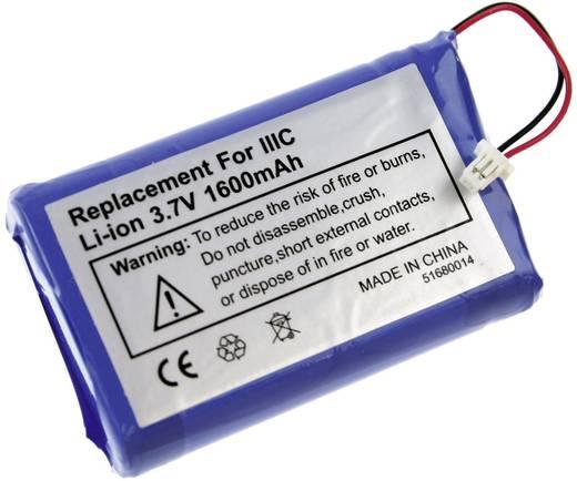 PDA-Akku XCell ersetzt Original-Akku 170-0737, B520003 3.7 V 1600 mAh