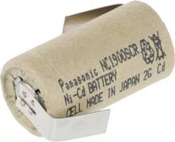 Akumulátor NiCd Panasonic Sub-C s pájecími kontakty, 1900 mAh