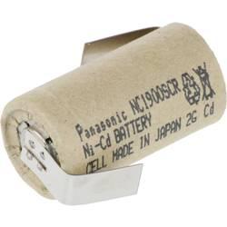 Špeciálny akumulátor Panasonic Sub-C ZLF, Sub-C, spájkovacia špička v tvare Z, Ni-Cd, 1.2 V, 1900 mAh