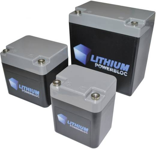 Lithium Powerbloc BMZ Spezial-Akku Powerbloc Innengewinde LiFePO 4 13.2 V 5500 mAh