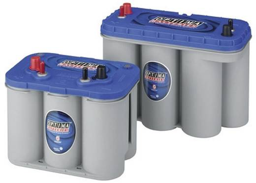 Bleiakku 12 V 66 Ah Optima Batteries BTDC5.0 8272270008882 Blei-Vlies (AGM) (B x H x T) 309 x 221 x 172 mm Konuspol, M5-