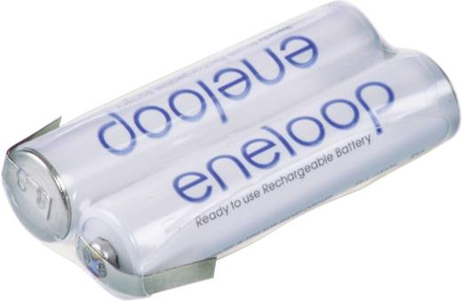 Akkupack 2x Micro (AAA) Z-Lötfahne NiMH Panasonic eneloop Reihe F1x2 2.4 V 750 mAh