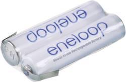 Image of Akkupack 2x Micro (AAA) Z-Lötfahne NiMH Panasonic eneloop Reihe F1x2 2.4 V 750 mAh