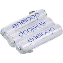 Akupack - sada nabíjacích batérií Ni-MH 3 micro (AAA) spájkovacia špička v tvare Z Panasonic eneloop Reihe F1x3 129674, 750 mAh, 3.6 V