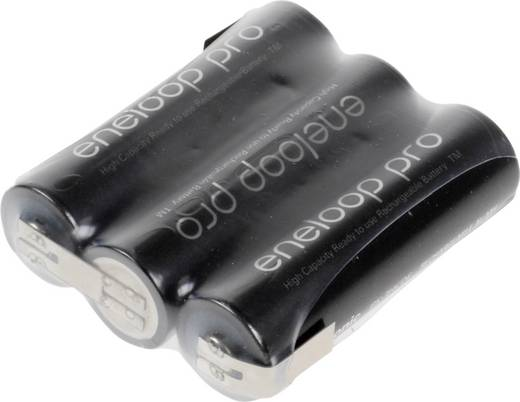 Akkupack 3x Mignon (AA) Z-Lötfahne NiMH Panasonic eneloop Pro Reihe F1x3 3.6 V 2450 mAh