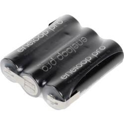 Akupack - sada nabíjacích batérií Ni-MH 3 mignon (AA) spájkovacia špička v tvare Z Panasonic eneloop Pro Reihe F1x3 135551, 2450 mAh, 3.6 V