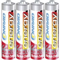 Mikrotužkový akumulátor typu AAA Ni-Zn Conrad energy HR03 550 mAh 1.6 V 4 ks