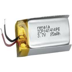 Akumulátor Li-Pol Renata, 3,7 V, 85 mAh, ICP641414PE