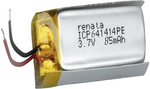 Spezial-Akku Prismatisch Kabel LiPo Renata ICP641414PE 3.7 V 85 mAh