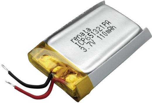 Spezial-Akku Prismatisch Kabel LiPo Renata ICP651321PA 3.7 V 120 mAh
