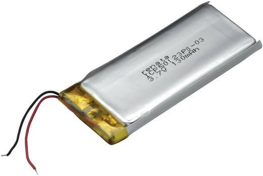 Renata ICP50123PS-03 Spezial-Akku Prismatisch Kabel LiPo 3.7 V 130 mAh