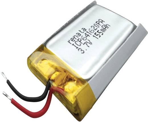 Spezial-Akku Prismatisch Kabel LiPo Renata ICP641620PA 3.7 V 165 mAh