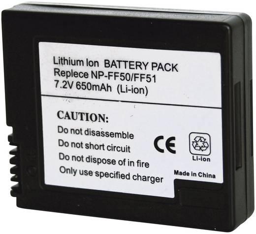 Kamera-Akku Conrad energy ersetzt Original-Akku NP-FF50, NP-FF51 7.2 V 600 mAh