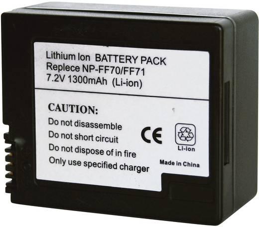 Kamera-Akku Conrad energy ersetzt Original-Akku NP-FF70, NP-FF71 7.2 V 1200 mAh 252073