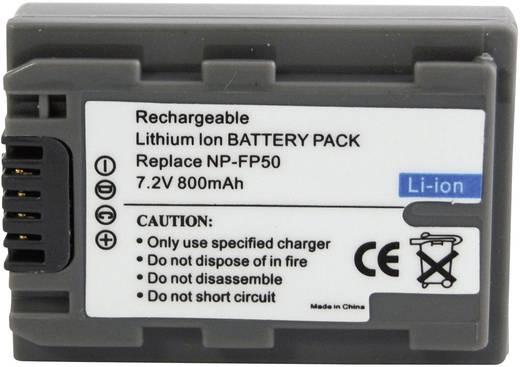 Kamera-Akku Conrad energy ersetzt Original-Akku NP-FP50 7.2 V 550 mAh 252074