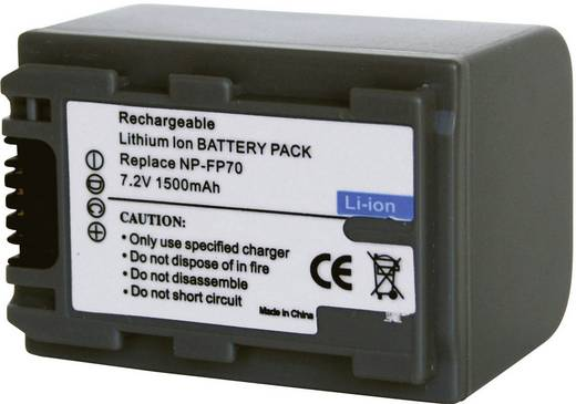 Kamera-Akku Conrad energy ersetzt Original-Akku NP-FP70 7.2 V 1100 mAh 252075