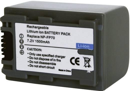Kamera-Akku Conrad energy ersetzt Original-Akku NP-FP70 7.2 V 1100 mAh