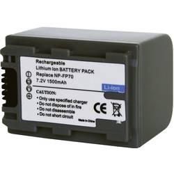 Náhradné batérie pre kamery Conrad Energy NP-FP70, 7,2 V, 1100 mAh