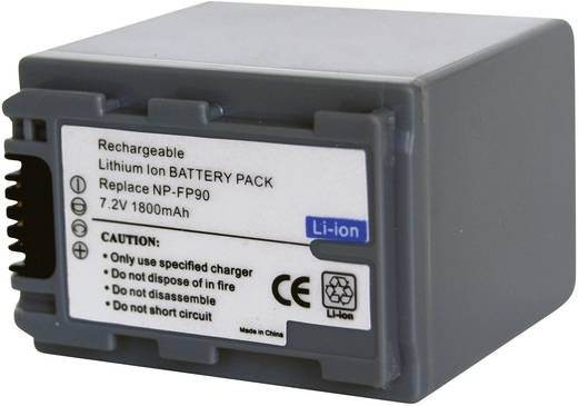 Kamera-Akku Conrad energy ersetzt Original-Akku NP-FP90 7.2 V 1600 mAh
