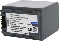 Náhradní baterie pro kamery Conrad Energy NP-FP90, 7,2 V, 1600 mAh