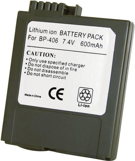 Kamera-Akku Conrad energy ersetzt Original-Akku BP-406 7.4 V 600 mAh 252080