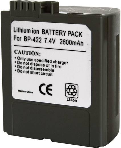 Kamera-Akku Conrad energy ersetzt Original-Akku BP-422 7.4 V 2600 mAh 252082