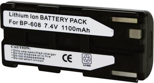 Kamera-Akku Conrad energy ersetzt Original-Akku BP-608 7.4 V 1000 mAh
