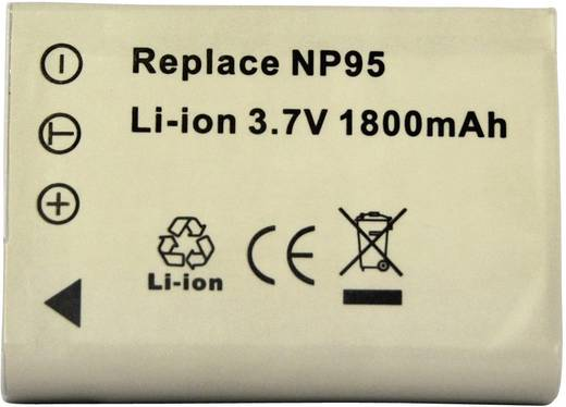 Kamera-Akku Conrad energy ersetzt Original-Akku NP-95 3.7 V 1500 mAh
