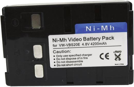 Kamera-Akku Conrad energy ersetzt Original-Akku BN-V25U 6 V 3600 mAh 252100