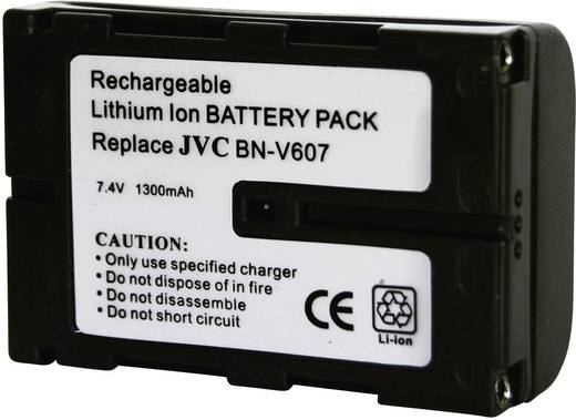 Kamera-Akku Conrad energy ersetzt Original-Akku BN-V607 7.2 V 1300 mAh 252104