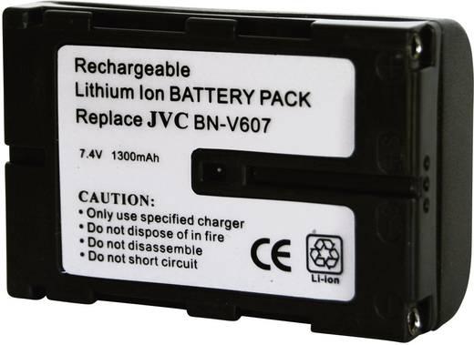 Kamera-Akku Conrad energy ersetzt Original-Akku BN-V607 7.2 V 1300 mAh