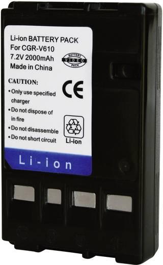 Kamera-Akku Conrad energy ersetzt Original-Akku CGR-V610 7.2 V 2000 mAh 252110