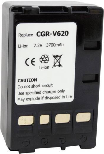 Kamera-Akku Conrad energy ersetzt Original-Akku CGR-V620 7.2 V 4000 mAh 252111