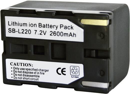 Kamera-Akku Conrad energy ersetzt Original-Akku SB-L220 7.4 V 2600 mAh