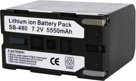 Kamera-Akku Conrad energy ersetzt Original-Akku SB-L480 7.4 V 6000 mAh 252119