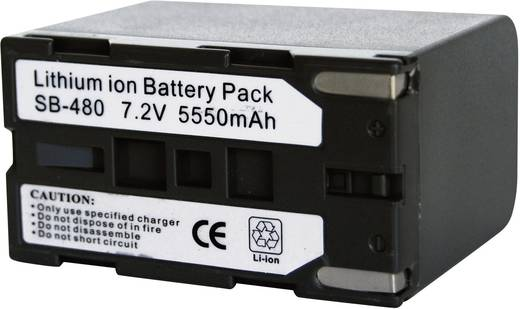 Kamera-Akku Conrad energy ersetzt Original-Akku SB-L480 7.4 V 6000 mAh