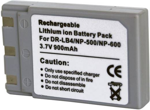 Kamera-Akku Conrad energy ersetzt Original-Akku NP-500, NP-600, DR-LB4 3.7 V 800 mAh 252148