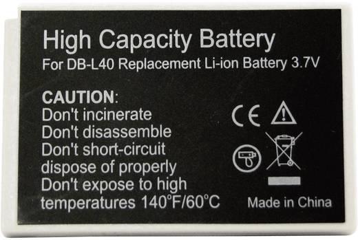 Kamera-Akku Conrad energy ersetzt Original-Akku DB-L40 3.7 V 800 mAh 252157
