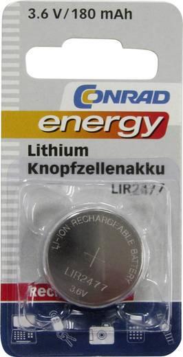 Knopfzellen-Akku LIR 2477 Lithium Conrad energy LIR2477 180 mAh 3.6 V 1 St.