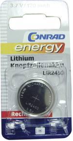 Pile bouton rechargeable lithium 3.6 V Conrad energy LIR2450 120 mAh 1 pc(s)