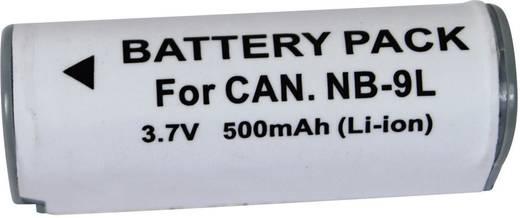 Kamera-Akku Conrad energy ersetzt Original-Akku NB-9L 3.7 V 500 mAh