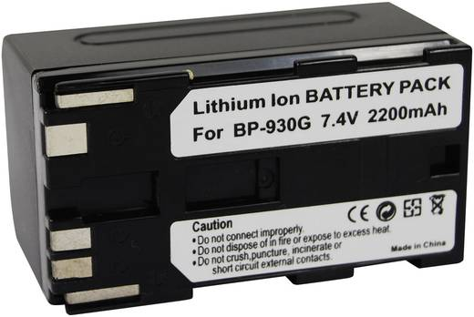 Kamera-Akku Conrad energy ersetzt Original-Akku BP-930G 7.4 V 2200 mAh BP-930G