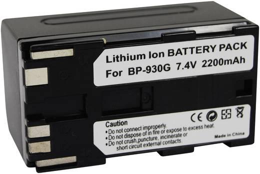 Kamera-Akku Conrad energy ersetzt Original-Akku BP-930G 7.4 V 2200 mAh