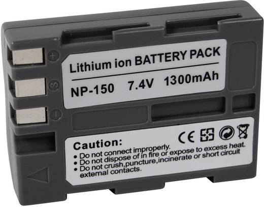 Kamera-Akku Conrad energy ersetzt Original-Akku NP-150 7.4 V 1300 mAh NP-150