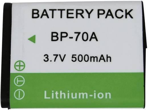 Kamera-Akku Conrad energy ersetzt Original-Akku BP-70A 3.7 V 500 mAh BP-70A