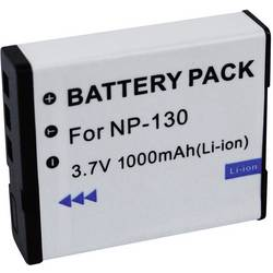 Akumulátor do kamery Conrad energy NP-130 Casio NP130, 1000 mAh