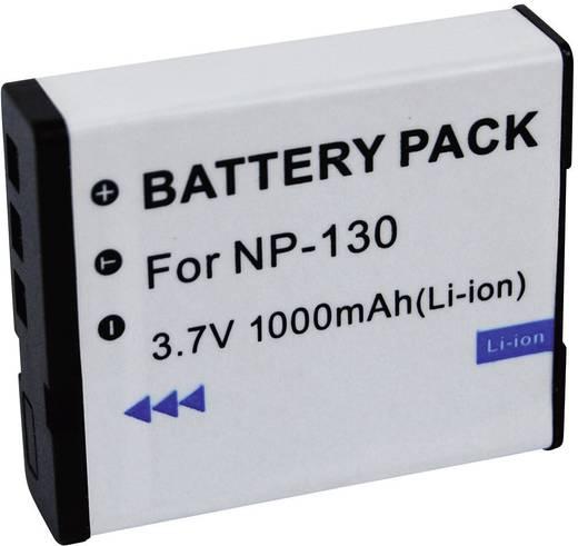 Kamera-Akku Conrad energy ersetzt Original-Akku NP-130 3.7 V 1000 mAh